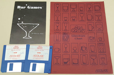 Bar Games - 1990 Accolade Game for Commodore Amiga
