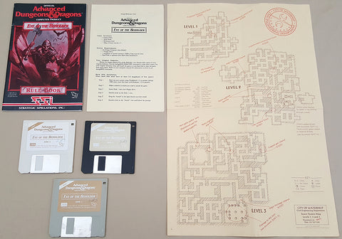 AD&D Eye of the Beholder - 1991 TSR SSI Game for Commodore Amiga
