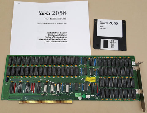 A2058 8mb RAM Zorro-II Card w/8mb RAM Installed for Commodore Amiga