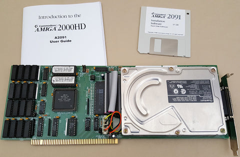 A2091 SCSI Controller w/500mb Harddrive 2MB RAM 7.0 ROMs 14MhzMOD for Commodore Amiga