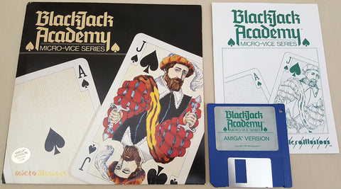 BlackJack Academy 1987 Microillusions Game for Commodore Amiga