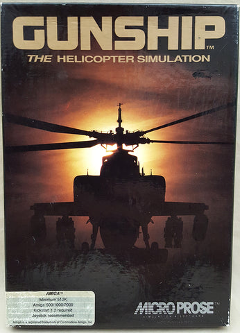 GUNSHIP Attack Helicopter Simulation 1989 MicroProse Game for Commodore Amiga