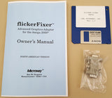 9-pin to 15-pin VGA Adaptor for Microway AGA-2000 flicker Fixer Manual & Disk for Commodore Amiga