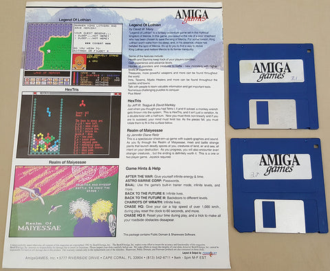Amiga Games Magazine Issues 3.1 3.2 - 1992 BestOfAmiga Game Disks for Commodore Amiga