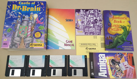 Castle of Dr. Brain - 1992 Sierra Game for Commodore Amiga