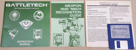 BattleTech The Crescent Hawk's Inception - 1989 Infocom Game for Commodore Amiga