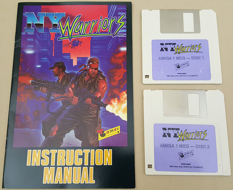 N.Y. Warriors - 1990 Virgin Mastertronic Game for Commodore Amiga