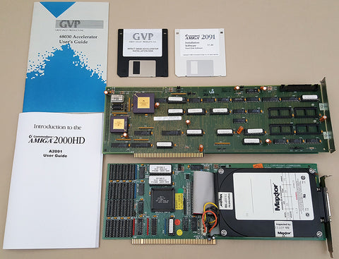GVP A3001 68030@25mhz Accelerator & A2091 SCSI Controller for Amiga 2000 2000HD 2500 or Video Toaster