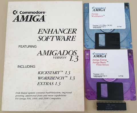 Amiga OS Workbench & Extras v1.3.3 Disks Manual Kickstart ROM for Commodore Amiga