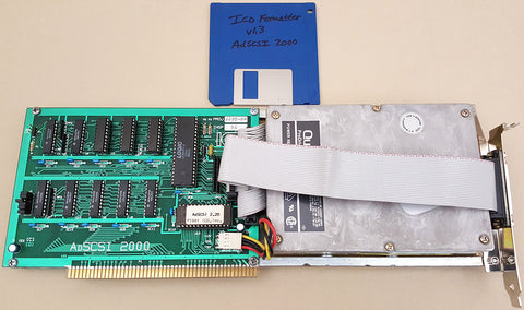 ICD AdSCSI 2000 SCSI Controller w/40mb Harddrive for Commodore Amiga