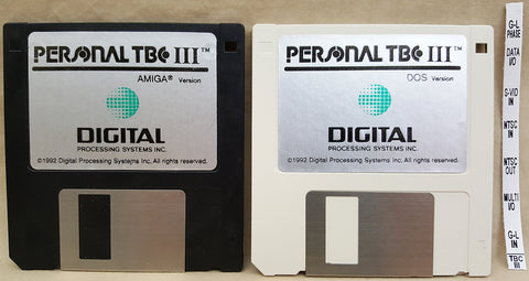 TBC-III Time Base Corrector Install Disks by DPS for Commodore Amiga