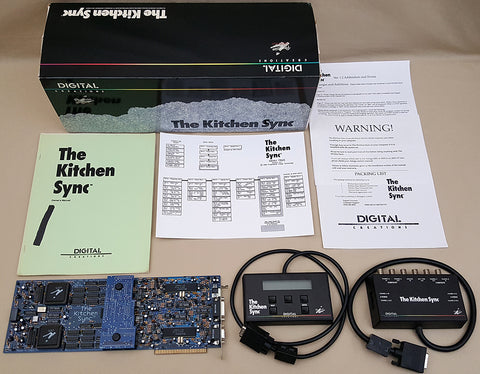 The Kitchen Sync by Digital Creations for Commodore Amiga 2000 3000(T) 4000(T) Video Toaster BOXED