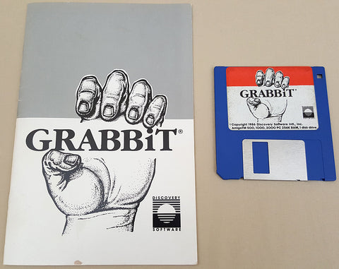 GRABBiT v1.0 - 1986 Discovery Software for Commodore Amiga