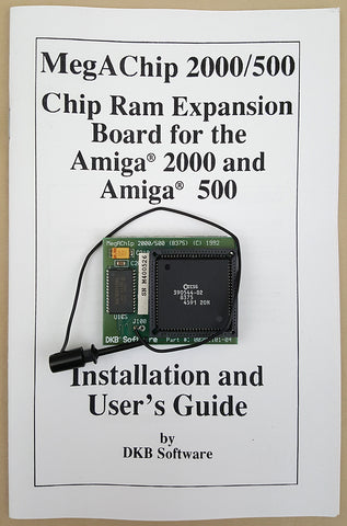 MegAChip 2MB CHIP RAM by DKB for Commodore Amiga 500 2000 2000HD 2500 Video Toaster