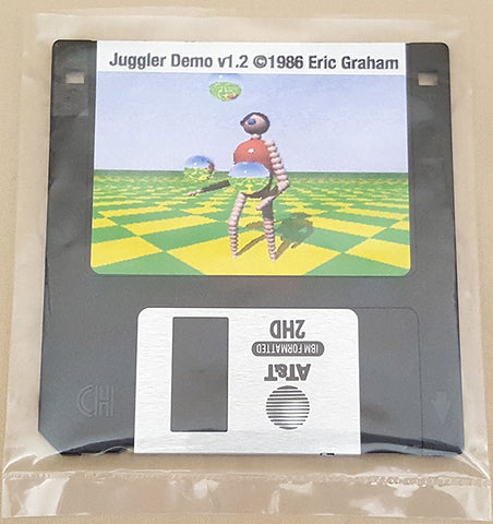 Juggler Demo v1.2 ©1986 Eric Graham for Commodore Amiga