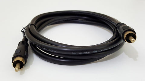 6' ft RCA Male to RCA Male Composite Cable for Commodore Amiga NewTek Video Toaster Flyer TBC V-Scope