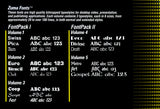 TV TEXT Professional Zuma Fonts Vols.1-5 - 1986-89 Zuma Group for Commodore Amiga