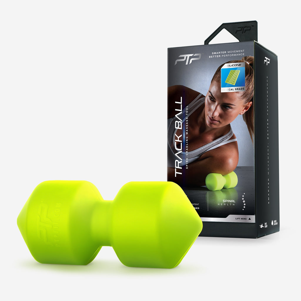PTP Track Ball Soft | Lime - Back and Neck Release Tool with 40+ Exercises