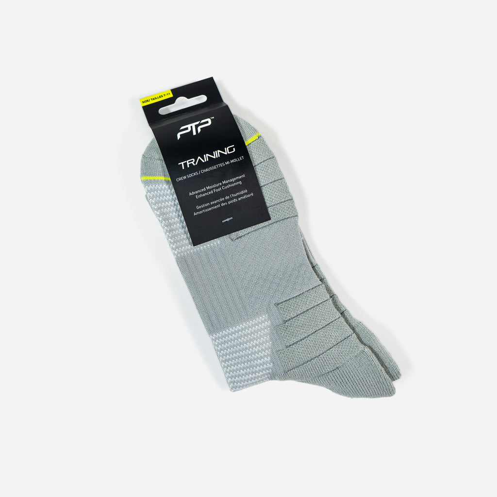 PTP TRAINING CREW SOCKS SILVER