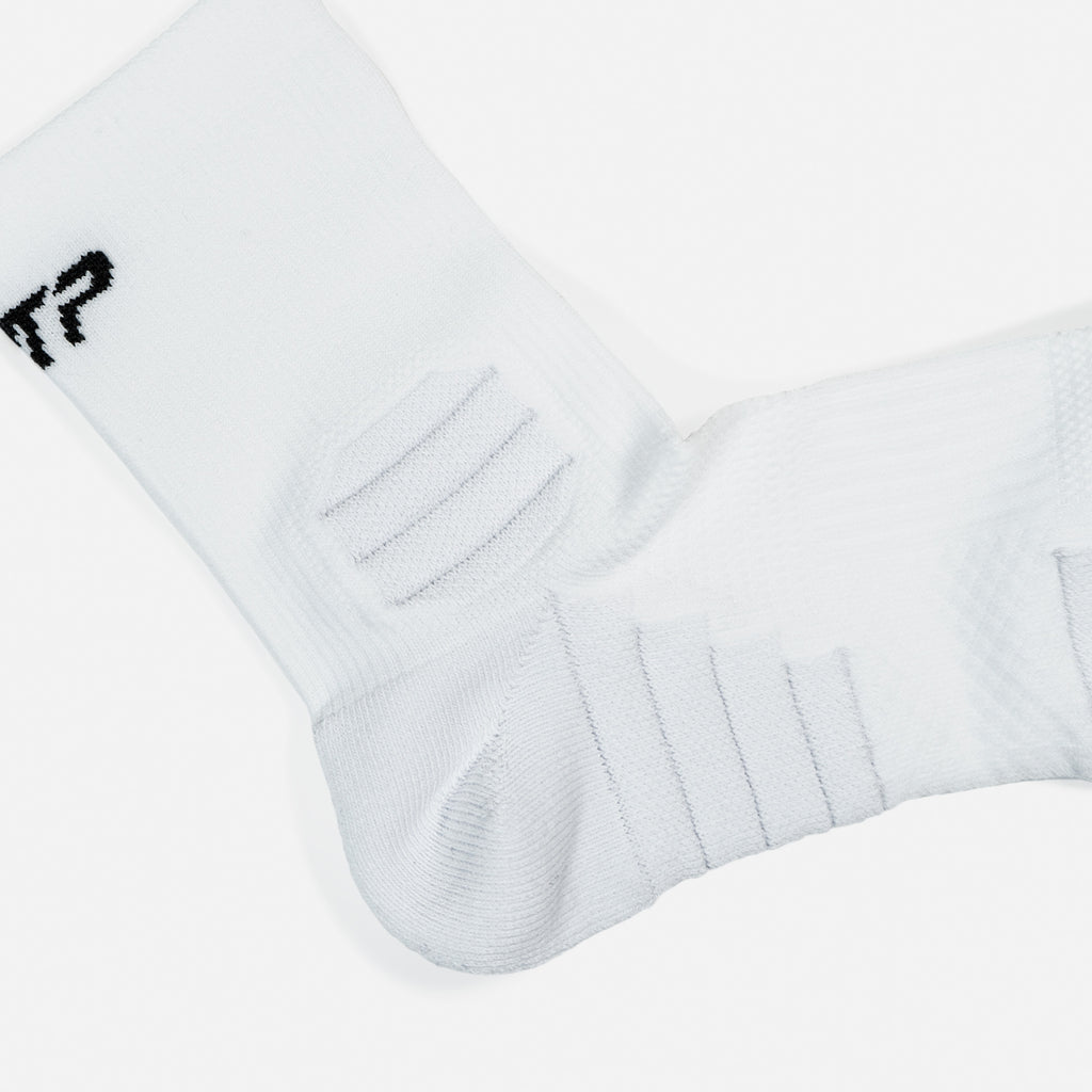 PTP TRAINING CREW SOCKS WHITE