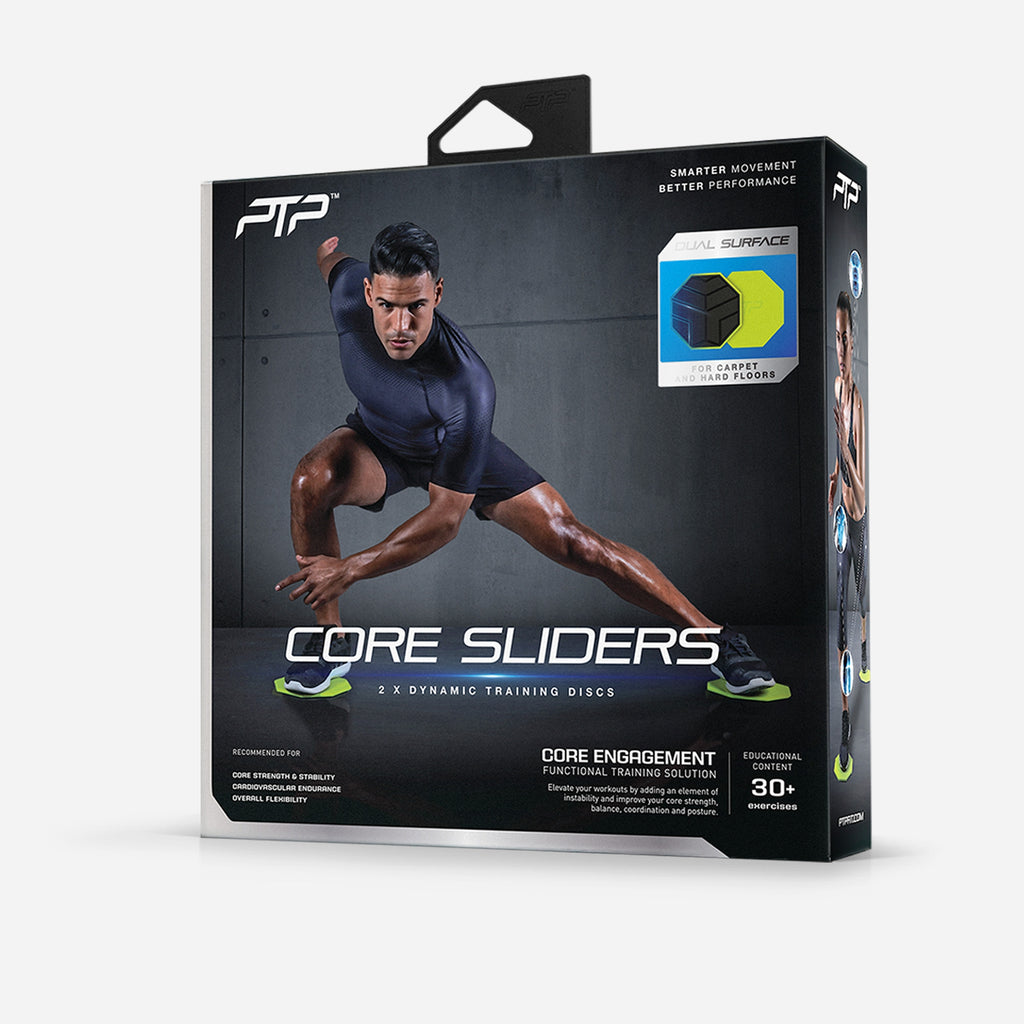 PTP Core Sliders - Over 30 Exercises for Core Strengthening & Cardiovascular Health