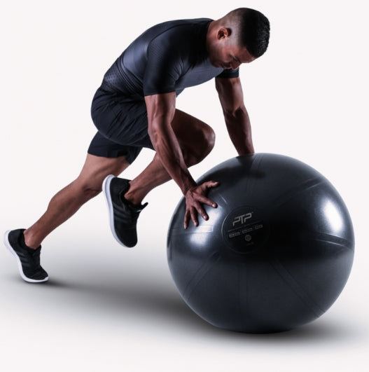 PTP CoreBall Onyx Black - High Knee Exercise / Mountain Climbers