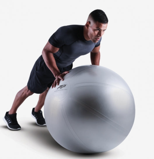 PTP Steel Grey CoreBall - BPA/Phthalate-free | Plank Exercise