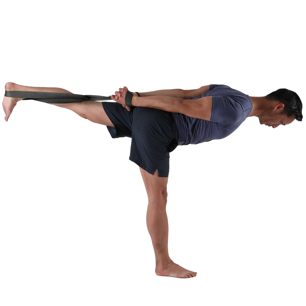Warrior Pose on Left Leg - Greater support with the Large PTP Yoga 8Loop