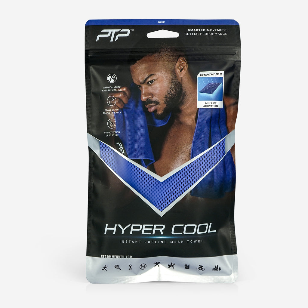 PTP Hyper Cool Towel Blue - Ultra-compact and travel-friendly