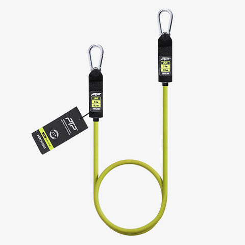 PTP PowerTube Lime Light Resistance Tube with Carabiners