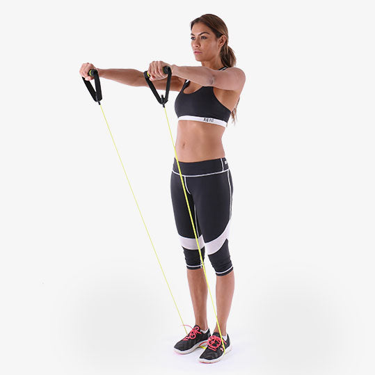 PowerTube+ Standing Shoulder Raise Exercise