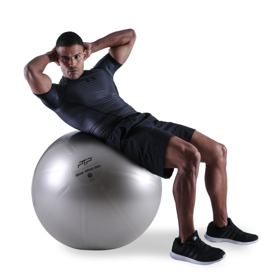 PTP CoreBall Oblique Crunch Exercise