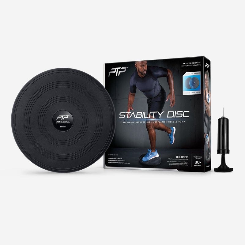 Grey Structure Fitness Stability Balance Disc with Free Hand Pump Included