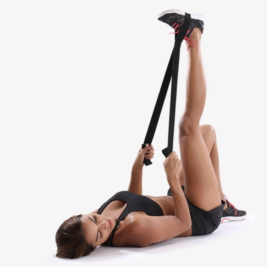 Hamstring stretch with PTP Stretching Strap