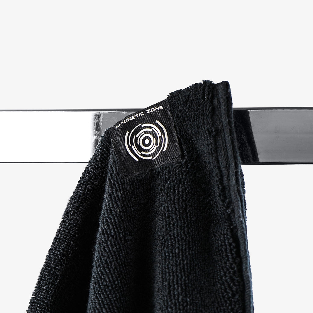 PTP Towel X Black | With Powerful Neodymium Magnet for Easy Suspension on Any Exercise Machine