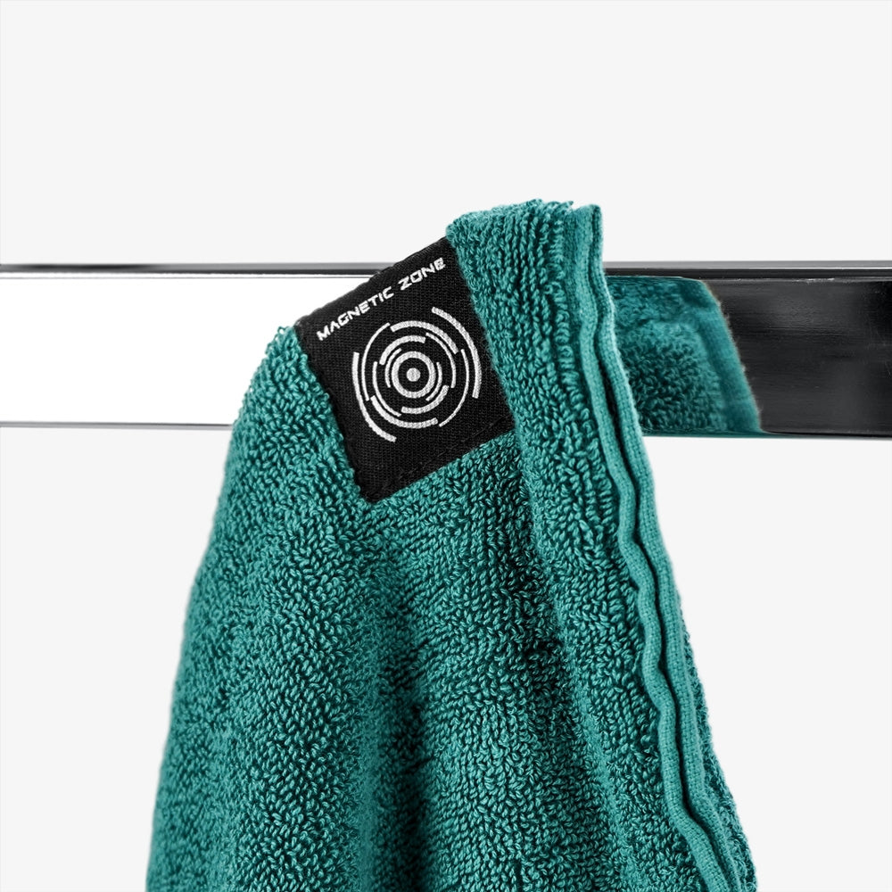 PTP Towel X Teal | With Powerful Neodymium Magnet for Easy Suspension on Any Exercise Machine