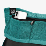 PTP Towel X Green Teal | Perfect Storage Solution for Phone, Keys & Cards