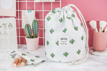 Load image into Gallery viewer, Drawstring Cosmetic Bag with Pouch
