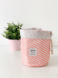 Drawstring Cosmetic Bag with Pouch