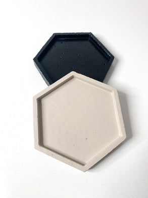 Hexagon Concrete Coaster - Beige