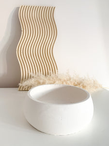 Fruit Bowl Concrete Style - White