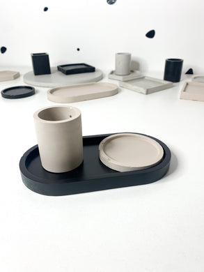 Concrete Dish / Tray - Black
