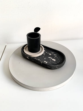 Terrazzo Dish / Tray - Black and White