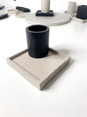 Square Concrete Coaster - Beige