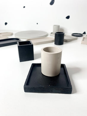 Square Concrete Coaster - Black