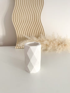 Geometric Pot - White