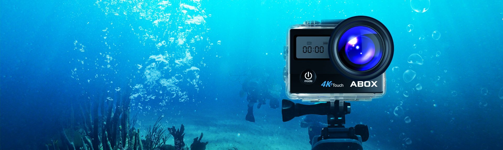 ABOX Action Sports Camera records underwater up to 30 meters
