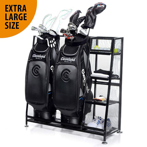 Golf Bag & Equipment Garage Organizer Storage Rack