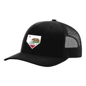 California Home Plate Black Hat