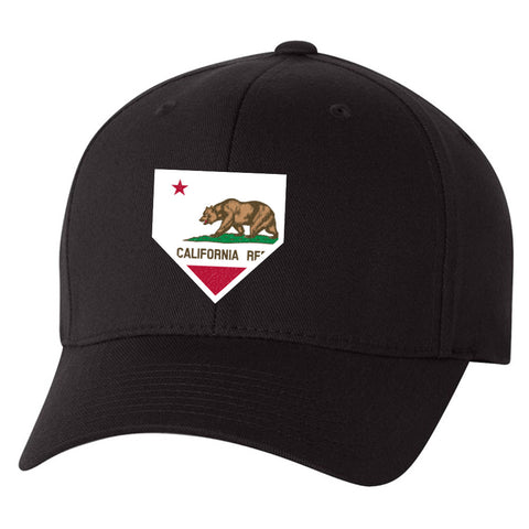 Image of California Home Plate Black Hat
